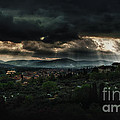Beams Of Light Over Florence by Jaroslaw Blaminsky