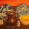 Beanpot Still Life by Catherine Worthley