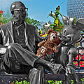 Bear And His Mentors Walt Disney World 03 by Thomas Woolworth