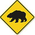 Bear Crossing Sign by Marvin Blaine