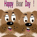 Bear Day Card by Iris Gelbart