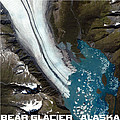 Bear Glacier Alaska From Above by Theo Westlake