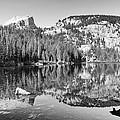 Bear Lake - Black And White by Harold Rau
