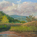 Bear Mountain Bridge From Iona Marsh by Phyllis Tarlow