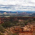 Bear Mountain View Of Sedona by Steve Wile