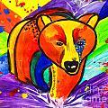 Bear Pop Art by Julia Fine Art And Photography
