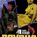 Beauceron Art Canvas Print - Psycho Movie Poster by Sandra Sij