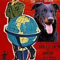 Beauceron Art Canvas Print - The Great Dictator Movie Poster by Sandra Sij