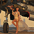 Beautiful 1940s Pin-up Girl Standing by Christian Kieffer