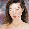 Beautiful Actress Jeananne Goossen Updated Version by Jim Fitzpatrick
