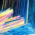 Beautiful Benzoic Acid  Microcrystals Abstract Art by Stephan Pietzko