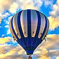 Beautiful Blue Hot Air Balloon by Robert Bales