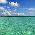 Beautiful Bora Bora Green Water And Blue Sky by Eva Kaufman