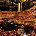 Beautiful Canyon And Waterfall by Sushmita Sadhukhan