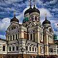 Beautiful Cathedral In Tallinn Estonia by David Smith