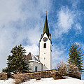 Beautiful Church In Hirschegg Kleinwalsertal Austria Europe by Matthias Hauser