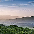 Beautiful English Countryside Landscape Over Rolling Hills by Matthew Gibson