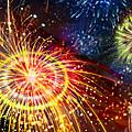 Beautiful Fireworks 8 by Jeelan Clark