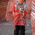 Beautiful Girl At Petra Jordan by Eva Kaufman
