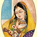 Beautiful Lady by Artist Vivekananad Patil