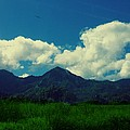 Beautiful Mountain White Could.. Blue Sky by Tshering Sam