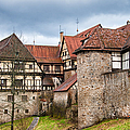 Beautiful Old Medieval Town With City Wall And Half-timbered Houses by Matthias Hauser