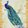 Beautiful Peacock-b by Jean Plout