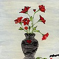Beautiful Red Flowers by Shirley Barone