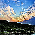 Beautiful Sky Over The Harbour Digital Painting by Barbara Griffin