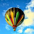 Beautiful Stripped Hot Air Balloon by Robert Bales