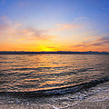 Beautiful Sunrise On A Red Sea Beach by Mark E Tisdale