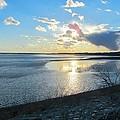 Beautiful Sunset Iowa River by Cynthia Woods