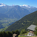 Beautiful View From Riederalp - Swiss Alps by Matthias Hauser
