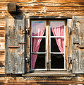 Beautiful Window Wooden Facade Of A Chalet In Switzerland by Matthias Hauser