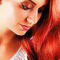 Beauty In Red Hair by T Monticello
