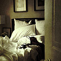 Bedroom Scene With Under Garments On Bed by Sandra Cunningham