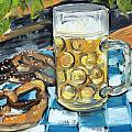 Beer And A Pretzel by Julie Galante