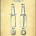 Beer Bottle Patent Drawing From 1934 - Vintage by Aged Pixel