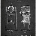 Beer Cooler Patent Drawing From 1876 - Dark by Aged Pixel