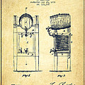 Beer Cooler Patent Drawing from 1876 - Vintage by Aged Pixel