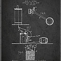 Beer Drawing Apparatus Patent from 1885 - Dark by Aged Pixel