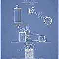 Beer Drawing Apparatus Patent from 1885 - Light Blue by Aged Pixel