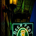 Beer Fest And Lamp by Kathleen K Parker
