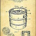 Beer Keg Patent Drawing - Vintage by Aged Pixel