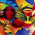 Beet Salad Pointillism by JAXINE Cummins