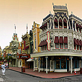 Before The Gates Open Early Morning Magic Kingdom With Castle. by Thomas Woolworth