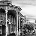 Before The Gates Open In Black And White Walt Disney World by Thomas Woolworth