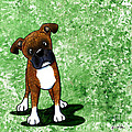 Befuddled Brindle Boxer by Kim Niles