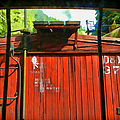Behind The Boxcar  Silverton Durango Rail by Cathy Anderson