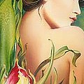 Behind The Curtain Of Colours -the Tulip by Anna Ewa Miarczynska